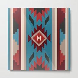 American Native Pattern No. 175 Metal Print