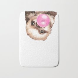 Baby Sloth Playing Bubble Gum Bath Mat
