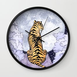 Tiger Moon | Colour Version Wall Clock