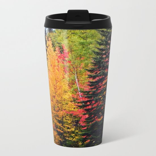 Deep in the Forest (Fall Colors) Metal Travel Mug