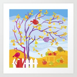 Autumn Fruit Farm Art Print