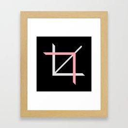 Crop-top black Framed Art Print