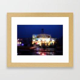 Bright lights. Framed Art Print