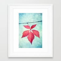 be happy Framed Art Prints featuring happy by Claudia Drossert