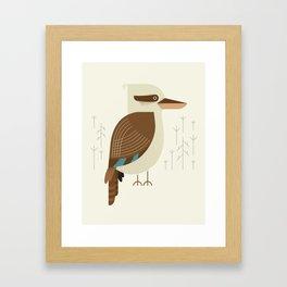 Laughing Kookaburra, Bird of Australia Framed Art Print