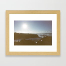 Ocean Blowout Framed Art Print