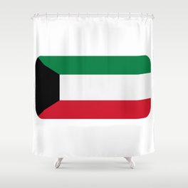 Kuwait flag Shower Curtain