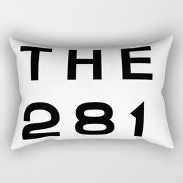 281 Texas Area Code Typography Rectangular Pillow