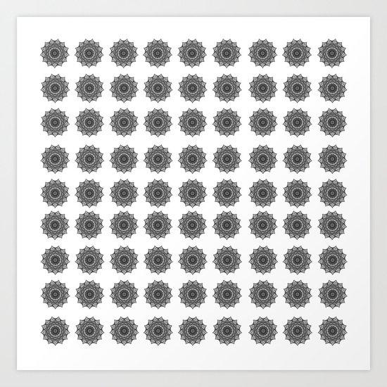 Black and White Mandala | Secret Geometry Art Print