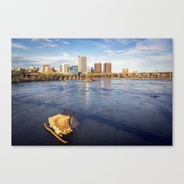 Richmond and the James River Canvas Print