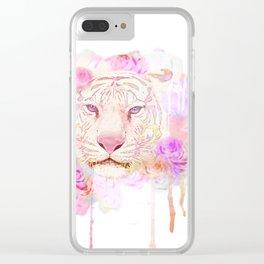 tigre de acuarela Clear iPhone Case