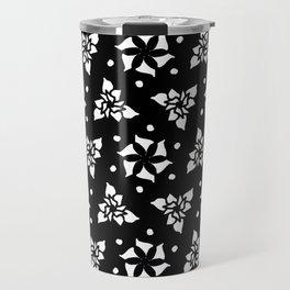 Floral on Black 1 Travel Mug