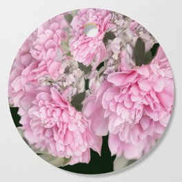 Pink Bouquet On A Black Background  #society6 #buyart Cutting Board