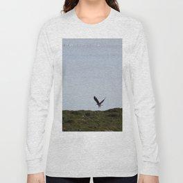Osprey In Flight on the Ocean Long Sleeve T-shirt