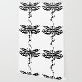 Dragonfly  bw Wallpaper