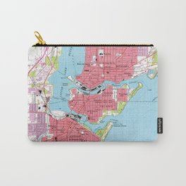 Vintage Map of Neenah Wisconsin (1955) Carry-All Pouch