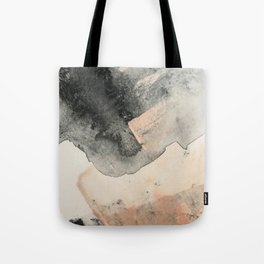 Peace and Quiet [2]: a pretty, minimal abstract piece in gray and peach by Alyssa Hamilton Art Tote Bag