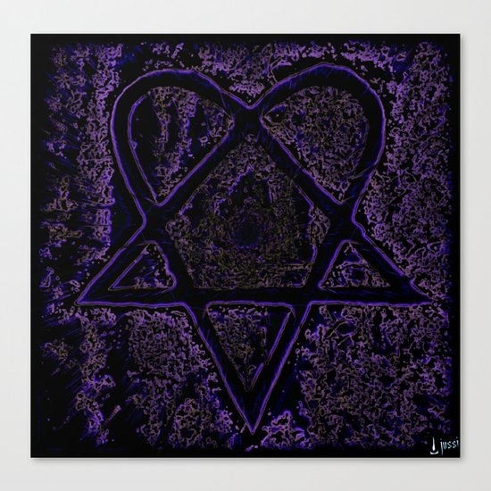 Nightmare Heartagram Canvas Print