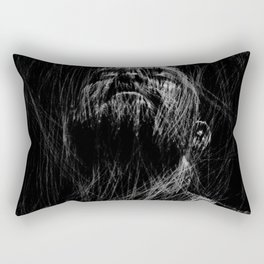 Bearded man face digital sketch, gay bear lifestyle, Rectangular Pillow