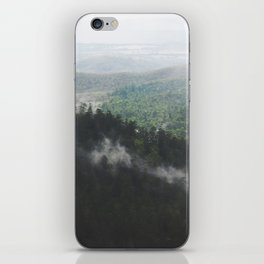Clouds in the forest iPhone Skin