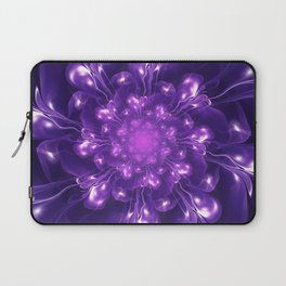 Serenity - Floral Bloom Fractal Laptop Sleeve
