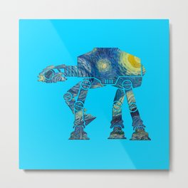 Starry Walker Metal Print