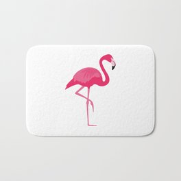 Flamingo time Bath Mat