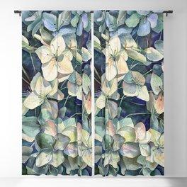 Summer hydrangea Blackout Curtain
