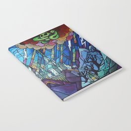 Hogwarts stained glass style Notebook