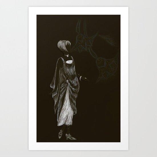 1920's Flapper Art Print