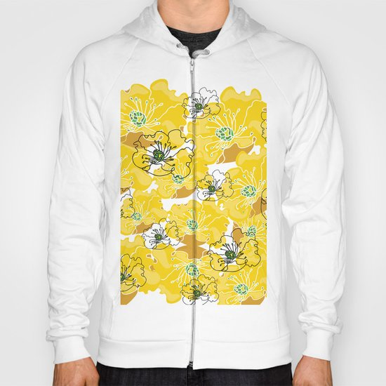 yellow marzipan flowers Hoody