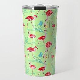 Anything goes - Flamingoes Travel Mug