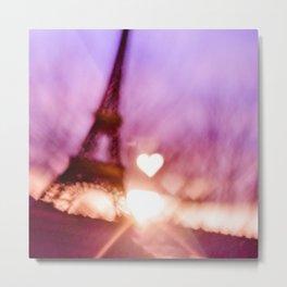 Sunset Paris  Metal Print