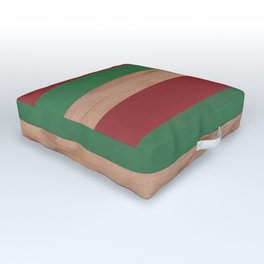 Red, Green & Wood II Outdoor Floor Cushion