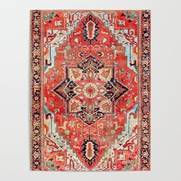 Heriz Azerbaijan Northwest Persian Rug Print Poster