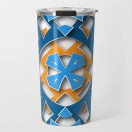 aztec mandala sun blue Travel Mug