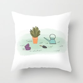 Gardener's Palette Throw Pillow