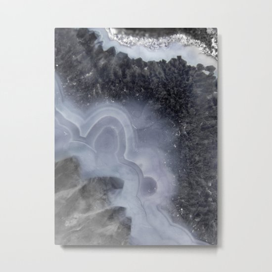 Winter Agate Metal Print