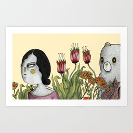 looking for Bears Art Print