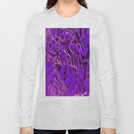 Distressed Violet Tree Bark Abstract Long Sleeve T-shirt