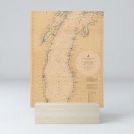 Map of Lake Michigan 1898 Mini Art Print