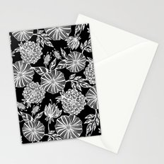 Romantic black garden Stationery Cards