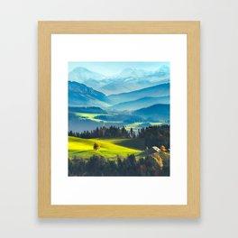 BLUE MOUNTAIN Framed Art Print