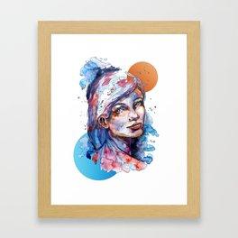 Sophia by carographic Framed Art Print