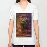 spiritual V-neck T-shirts featuring Spiritual Conflict by Joseph Mosley