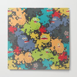 Funny microbes. Metal Print