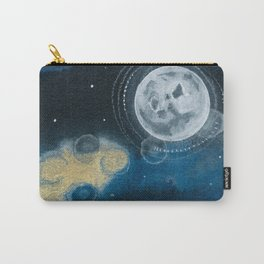 Moon Series #5 Watercolor + Ink Painting Carry-All Pouch