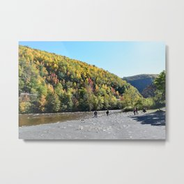 Fall by the River by Victoria Hess Metal Print