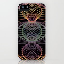 Elliptic Rotations, Day-glow Pop Poster Art iPhone Case