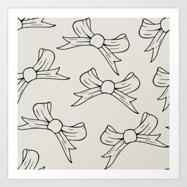 Elegant Bow Art Print